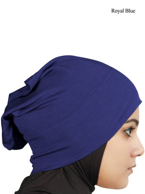 MyBatua royal blue Viscose Jersey Under Hijab Cap