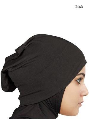 MyBatua black Viscose Jersey Under Hijab Cap