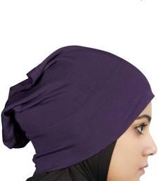 MyBatua Purple Viscose Jersey Under Hijab Cap