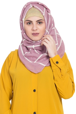 Pink cotton islamic hijab