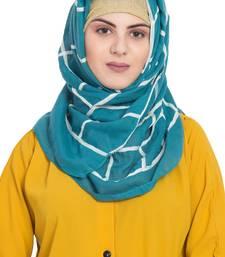 Green Cotton Islamic Hijab