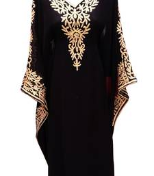 Black georgette embroidered islamic wedding farasha
