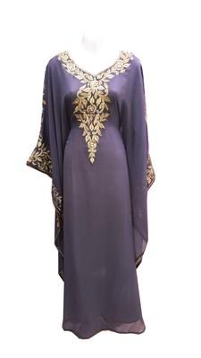 Grey georgette embroidered islamic wedding farasha