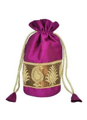 Handmade Designer Silk Potli Bags Gift Item 9 X 4 Inches