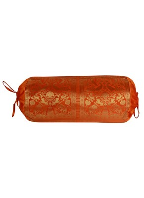 Lal Haveli Living Room Decorative Silk Bolster Covers 30 X 15 inches