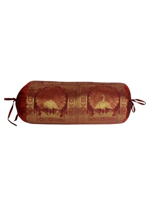 Home Decorative Designer Silk Bolster Cushion Cover 30 x 15 Inch