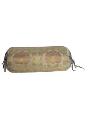 Rajasthani Handmade Silk Bolster Designer Cushion Covers 30 X 15 Inches