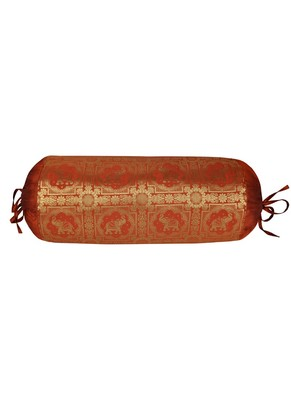 Lal Haveli Decorative Bolster Cover for Housewarming Gift 30 X 15 inches