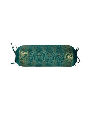 Lal Haveli Handmade Designer Silk Bolster Pillow Cover Housewarming Gifts 30 x 15 inch