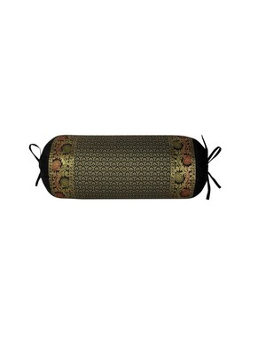 Lal Haveli Silk Bolster Pillow Cover 30 x 15 inch
