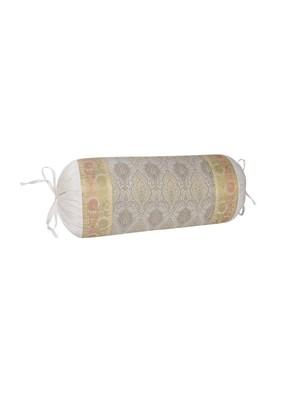 Lal Haveli Designer Silk Bolster Pillow Cover Room Decor 30 x 15 inch