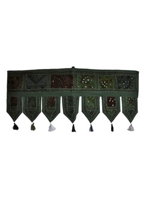 Handmade Door Hanging Ethnic Embroidered Patchwork Tapestry 38 By 14 Inches