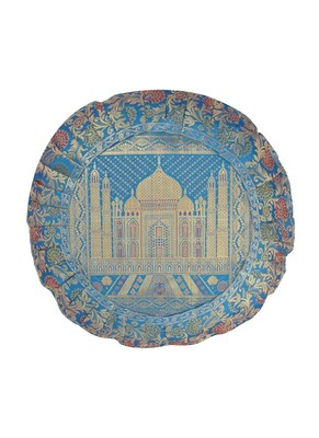 Lal Haveli Round Cushion Cover 16 X 16 inches