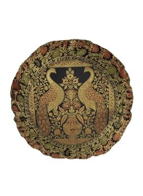Lal Haveli Single Silk Cushion Cover 16 X 16 inches