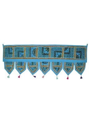Home Decorative Traditional Design Patchwork Embroidered Door Hanging 107 x 4...
