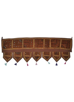 Traditional Design Embroidered Patchwork Indian Toran 107 x 40 Cm