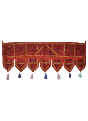 Traditional Design Patchwork Decorative Cotton Door Valance 107 x 40 Cm