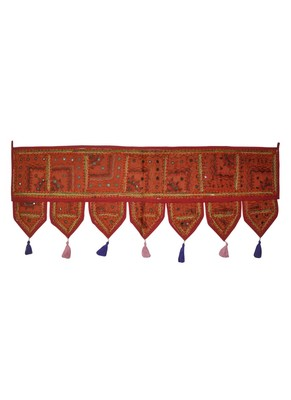 Lalhaveli Patchwork & Embroidered Work Design Door Hanging Tapestries 107 x 4...