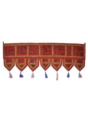 Lalhaveli Handmade Embroidered Work Cotton Door Tapestries 107 x 40 Cm