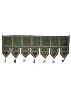 Traditional Embroidery Patchwork Design Indian Door Hanging Toran 107 x 40 Cm
