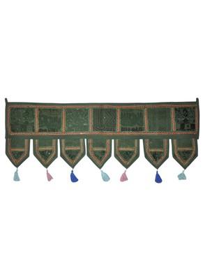 Handmade Traditional Embroidered Patchwork Design Vintage Door Hanging Decora...