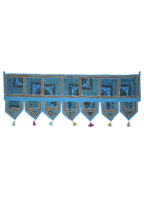 Lal Haveli Jaipuri Home Decorative Patchwork Design Door Valance 107 x 40 cm