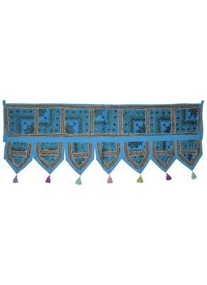 Rajasthani Embroidered Work Design Cotton Door Hanging Tapestries 107 x 40 Cm