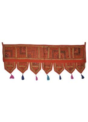 Traditional Design Embroidered & Mirror Decoraitve Patchwork Door Toran 107 x...