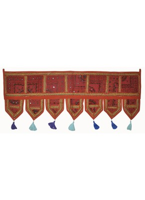 Lalhaveli Handmade Patchwork Embroidered Tapestries 107 x 40 Cm
