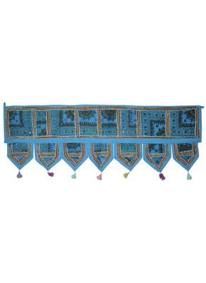 Traditional Design Embroidered Work Door Toran Brown Color 107 x 40 Cm