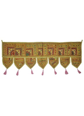 Lalhaveli Designer Patchwork Decorative Cotton Door Hanging Decoration 107 x ...