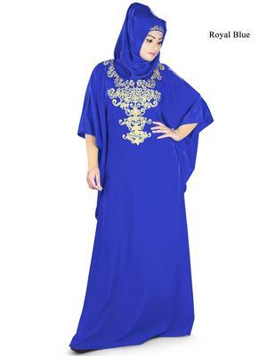 MyBatua Ayana Royal Blue Kaftan
