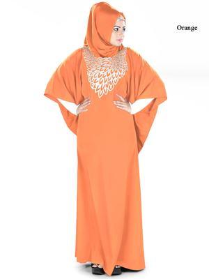 MyBatua Aimen Orange Kaftan