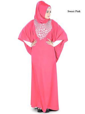 MyBatua Aimen Sweet Pink Kaftan
