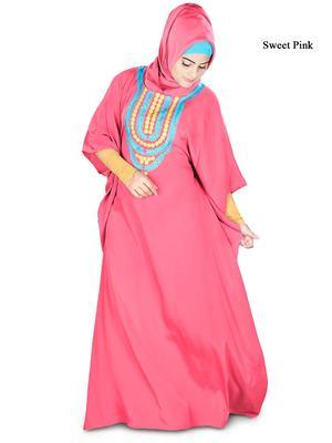 MyBatua Aleena Sweet Pink Kaftan