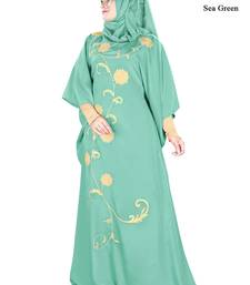 MyBatua Aiza Sea green Kaftan