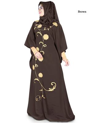 MyBatua Aiza Brown Kaftan