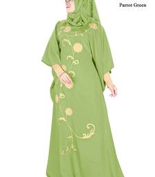 MyBatua Aiza Parrot Green Kaftan