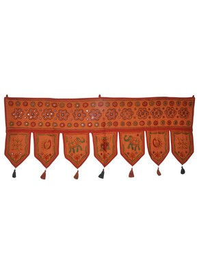 DRH01673 Elegant Art Wall Tapestry Embroidered Cotton Door Hanging Toran 39 X...