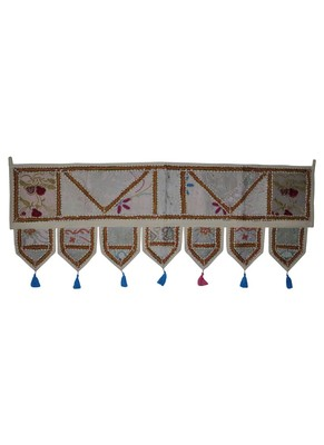 Patchwork Embroidery Design Wall D?cor Hanging Toran 18 X 45 Inches
