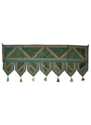 Elegant Indian Embroidered Decorative Door Valance 43 x 107 Cm