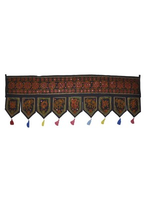 Home Decor Elephant Embroidery Mirror Work Desing Rajasthani Door Hanging 55 ...