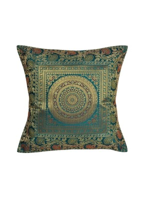 Lal Haveli Decorative Designer Single Silk Cushion Cover 16 x 16 inch