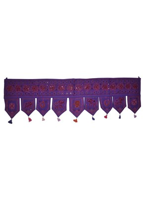 Elegant Mirror Work Design Rajasthani Handmade Art Embroidery Work Door Hangi...