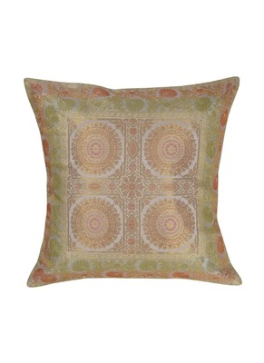 Lal Haveli Sofa Decorations Square Shape Silk Single Cushion Cover 16 x 16 inch