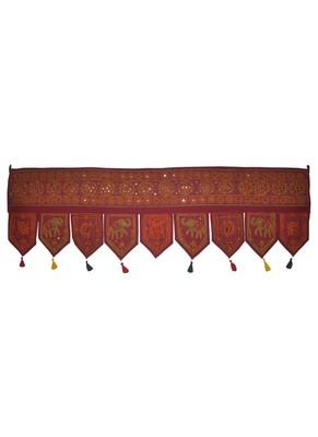 Indian Handmade Embroidery Work Design Vintage Mirror Work Cotton Door Hangin...