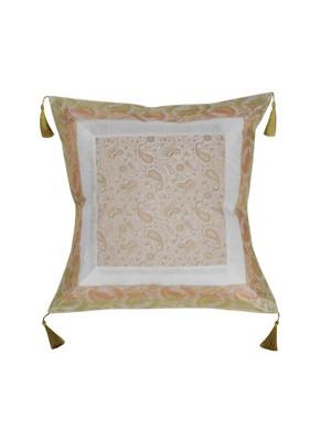 Lal Haveli Designer Square Shape Single Silk Cushion Cover 18 x 18 inch