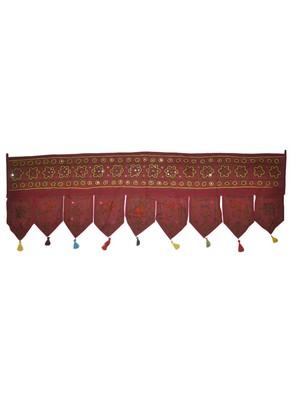 Rajasthani Handmade Embroidery Work Design Traditional Mirror Work Cotton Doo...