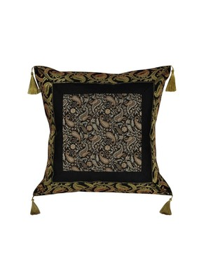 Lal Haveli Room Decorative Designer Silk Throw Pillow Cushion Cover 18 x 18 inch