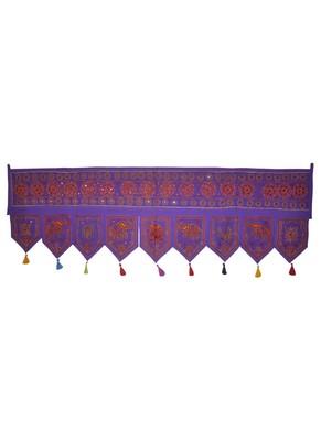 Home D?cor Ethnic Mirror Work Design Indian Hand Embroidery Cotton Door Hangi...